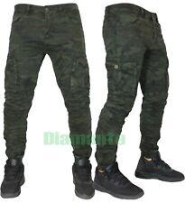 Pantaloni uomo Cargo mimetico Biker Tasconi slim elasticizzati nuovo KS22-76