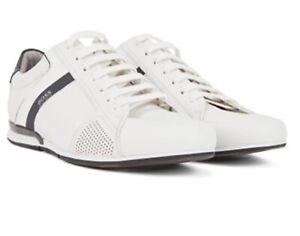 BOSS Lowtop Sneakers SATURN_LOWP_LUX4 aus Leder mit thermofixierten Details ...