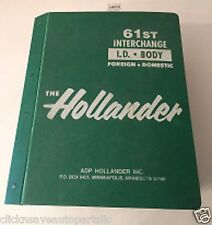 61st Hollander Body Interchange Manuals 1981-1995 Foreign/Domestic