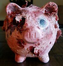 Custom Made Zombie Pig Piggy Bank Walking Dead Living Dead Halloween