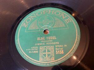 78RPM Pioneer Country Jimmie Rodgers 'Blue Yodel' Zonophone!