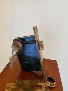 Large Vintage Russwin Mortise Bolt Lock NOS