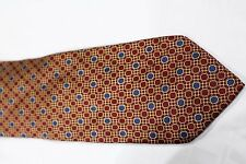 Umo Lorenzo Necktie Blue and Red Dots  Pattern NEW Hand Made Free Shipping T036