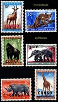 EBS Congo 1960 - African Animals - 29/36 MNH**