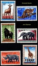 EBS Congo 1960 - African Animals - 29/36 MNH**
