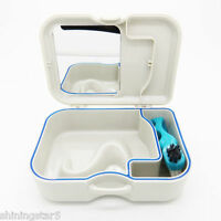 NEW Denture Dental Orthodontic Mouthguard Retainer Case Box with Mirror Brush
