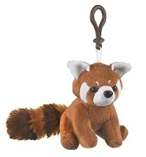 "4.5"" Red Panda Plush Stuffed Animal Clip On Keychain - New"