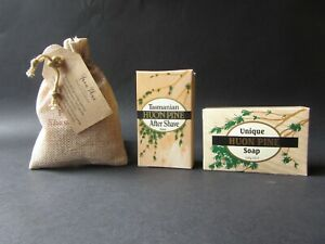 HUON PINE SOAP, AFTERSHAVE COLOGNE AND SACHET