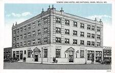 Rolla Missouri~Edwin Long Hotel~National Bank~Clothing Store~1931 Blue Sky PC