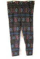 New Cuddl Duds Fleecewear Leggings Stretch 2X Multicolor A268467 Womens YC9