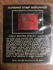 99 Company Cloisonne Stamp Masterpiece Csm-9 British Guiana Scott No.14 Silver