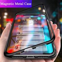 Magnetic Flip Metal Case Huawei Nova 5i 3i Mate 30 20 Lite Tempered Glass Cover