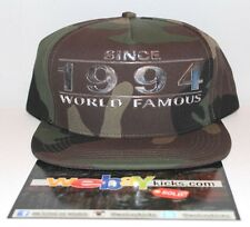 Supreme New York Famous Since 1994 Wood Camp Camouflage Snapback Cap Hat New 9fa96b82bc1e