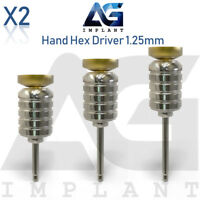 2 Hand Hex Driver 1.25mm Manual Screwdriver Abutment Tool For Dental Implant