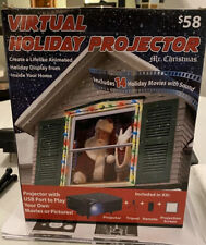 Christmas Virtual Holiday Projector Indoor Animated Window Decor Home Xmas New!