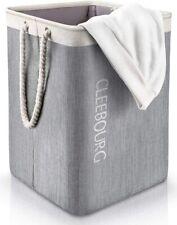 Laundry Basket Upgrade Storage Detachable Brackets Sturdy Collapsible 85L Grey