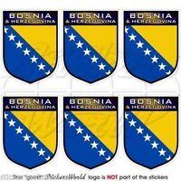 BOSNIA & HERZEGOVINA Shield Mobile Cell Phone Mini Decals, Stickers x6