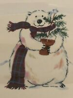 Pfaltzgraff Polar Snow Bear Christmas Holiday Red Green Small Side Serving Plate