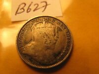 Canada 1910 5 Cent Rare Silver Coin Broad Or Ponted Leaves ? ID#B627.