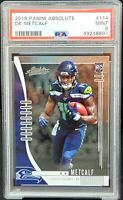 2019 Absolute ROOKIE Seattle Seahawks DK METCALF RC Card PSA 9 MINT Low Pop 24