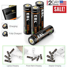 4 Pcs AA Batteries - USB Cable Rechargeable 1.5V 1600mAh 3300mWh Lithium Battery