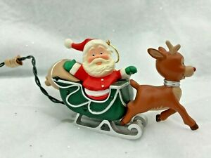 1989 Hallmark Rudolph the Red-Nosed Reindeer Ornament R.L. May Co.