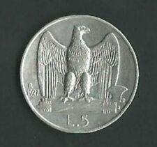 Moneta Regno d'Italia Vittorio Emanuele III 5 Lire 1927 Argento (57) Come da fot