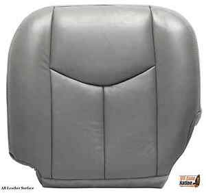 2004 2005 2006 GMC Sierra 1500 2500HD Driver  Bottom Leather Seat Cover Gray