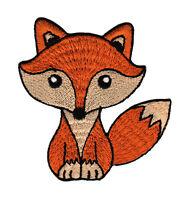 aa17 Fuchs Orange Rotfuchs Kinder Aufnäher Bügelbild Applikation 8 x 7,5 cm