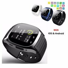 M26 Bluetooth Wrist Smart Watch Phone Mate For iPhone Android IOS Samsung Black