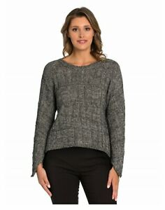MARCO POLO RELAXED CHECK SWEATER - BLACK/CHARCOAL - SIZES L, XL, XXL