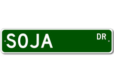 SOJA Street Sign - Personalized Last Name Signs
