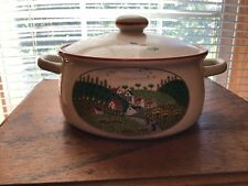 Newcor Stoneware Japan Country Village Larger Casserole