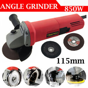 850W 4.5Inch 115mm Electric Angle Grinder Cutting Grinding Sander Corded & Discs