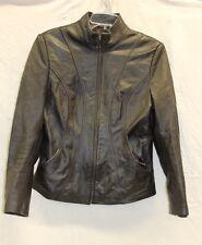 IZOD Leather Jacket Women's Size Medium GOOD Used Condition