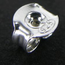 20 (10 paires) solide argent sterling 925 Stud boucle d'oreille papillon dos rouleaux 5mm