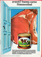 Pubblicità Advertising SIMMENTHAL Carne in scatola 1970 (1)