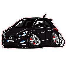 Character Sticker 6p 1set Phantom Black For 12 13 Hyundai Elantra GT : New i30