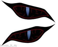 Custom Monster Evil Black / Red Eyes #5 Vinyl Decal