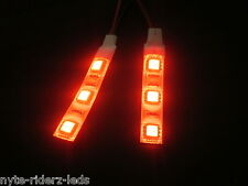 RED 5050 SMD LED 2 STRIPS 3 LED EACH FITS ALL INFINITI GMC NISSAN TOTAL 6 LEDS
