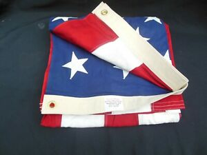 Vintage Cotton-Bunting 5' x 8' Valley Forge American Flag USA Size #5