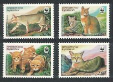 Tajikistan WWF Reed Cat 4v MNH SG#189-192 MI#208-211 SC#185 a-d