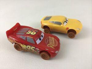 Disney Cars Crazy 8 Crashers Lightning McQueen and Cruz Ramirez Lot 2016 Mattel