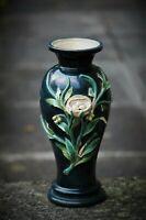Unusual Majolica Vase Probably European 'G & ?' 19c 9.5ins