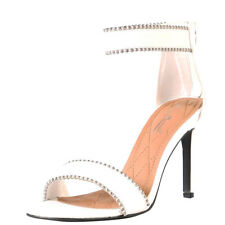 NEW Open Toe Ball Stud Trim Ankle Strap Pump Sandal Shoes Stiletto Med High Heel
