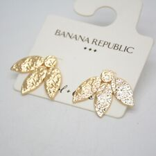 Swallow Earrings Pierced Stud Hammered Banana Republic Jewelry Gold Plated Birds