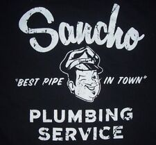 .Vintage 90's Sancho Plumbing Service The Best Pipe In Town T Shirt XXL