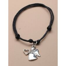 NEW Guardian angel adjustable black bracelet fashion jewellery costume