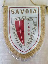 GAGLIARDETTO UFFICIALE CALCIO  S.S. SAVOIA 1908 -  A SCUDO - CON RETRO TRICOLORE