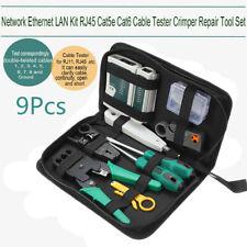 9in1 LAN Network Ethernet Repair Cable Tester Crimper Plier Tool Kit Cat5 RJ45